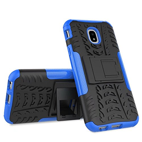 YHUISEN Hyun Pattern Dual Layer Hybrid Armor Kickstand 2 in 1 Shockproof Case Cover für Samsung Galaxy J3 Pro 2017 J330 (Europäische Version) ( Color : Green ) Blue