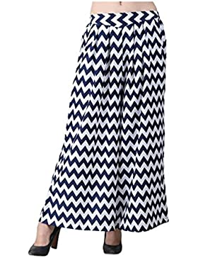 Indian Handicrfats Export Livener Flared Women's Blue, White Trousers