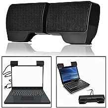 OFKPO Altavoz, USB Stereo Audio Speaker Caja de Música para Ordenador Portátil Notebook PC