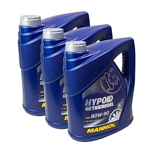 Mannol - 3x MN8106-4Hypoid olio lubrificante, 80W-90, percambio manuale, API GL 4/GL 5LS 4L