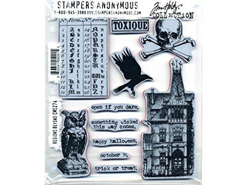 Stempel Anonymous cms274Tim Holtz selbst Stempeln, mehrfarbig, 7x 21,6cm (Halloween Spooky Stuff)