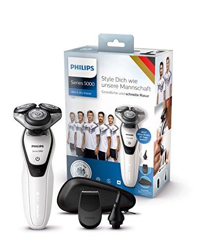 Philips Elektrischer Nass-und Trockenrasierer Limited Fan Edition mit MultiPrecision-Klingen S5651/45, Präzisionstrimmer, Nasen- und Ohrhaartrimmer