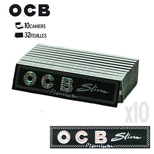 Feuille à Rouler - Lot DE 10 Carnet OCB Slim Premium Ciga