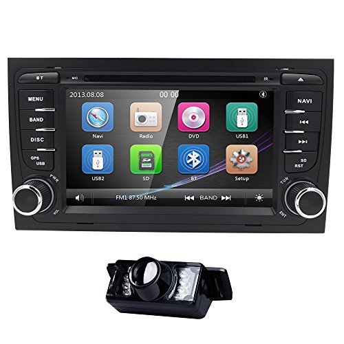 navihouse für Audi A4 2002-2008 17,8 cm Autoradio 2Din Auto-DVD-Stereo GPS Navi Player + HD Kamera Tv Built In Dvd Player