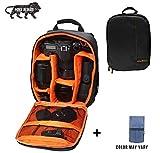 Brain Freezer DSLR/SLR Camera Lens Shoulder Backpack Case for Canon Nikon Sigma Olympus Camera (Orange)