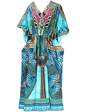 *La Leela* likre costumi da bagno spiaggia pigiameria digitale caftano kimono più il vestito da kaftan dimensioni