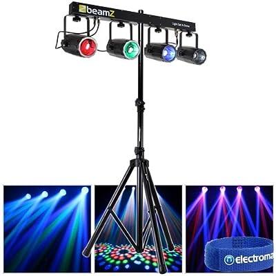Beamz Colour LED DMX Moonflower Disco DJ Lighting Rail Party Club Light Stand