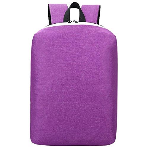 Super moderno 2017nuovo antifurto colorato in nylon zaino da scuola di ricarica USB zaino da escursionismo Cool sport zaino borsa per computer portatile, donna, Purple, L