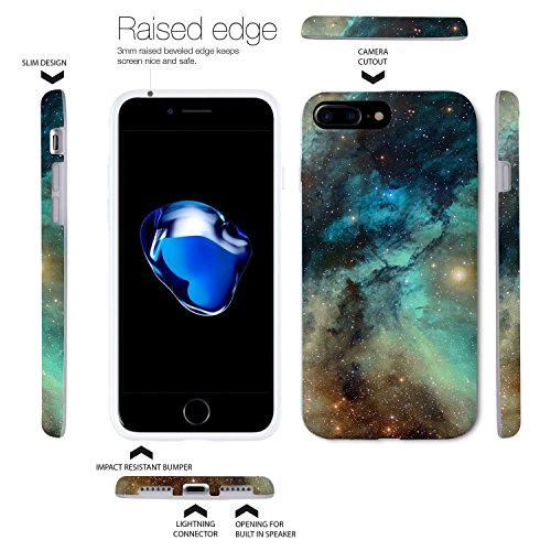 iPhone 8 Plus / iPhone 7 Plus Hülle, ZUSLAB Marmor Muster Schutzhülle, Weiche Flex TPU Silikon Bumper Case Ultra Dünn Handytasche für iPhone 8 Plus / iPhone 7 Plus Mehrfarbig Himmel