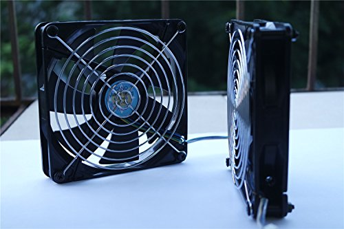 2-pack-14cm-long-life-with-grill-dual-ball-bearing-fan-cooling-fan-for-pc-computer-cases-cpu-coolers