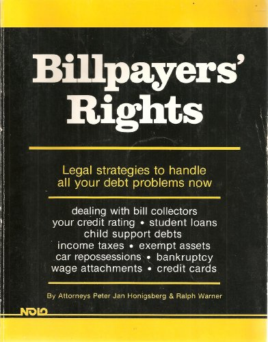 Title: Billpayers Rights Nolo Press SelfHelp Law Book