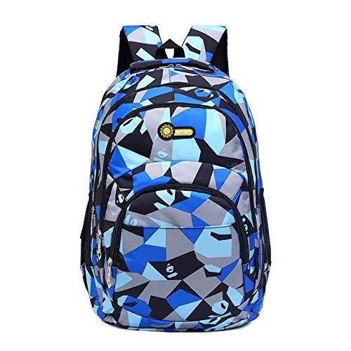 QWKZH Rucksäcke Rucksack Schultasche Kinder Schultaschen für Jugendliche Jungen Mädchen Große Kapazität Satchel Kids Book Bag Mochila, blau-ardy