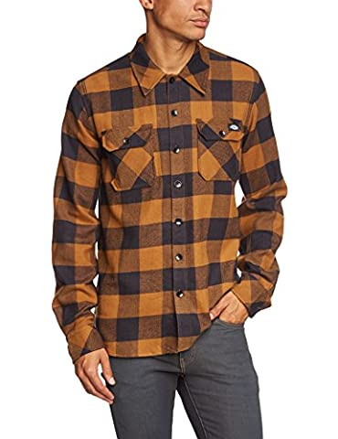 Dickies Sacramento Men's Streetwear Shirt Brown Brown Duck