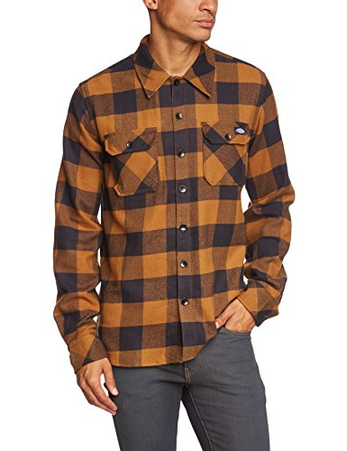 Dickies - Sacramento, T-shirt Uomo, Marrone (Brown Duck), Large (Taglia Produttore: Large)