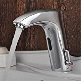 Badezimmer Waschbecken Armatur Thermostat ein Sensor heiße und kalte Waschbecken Waschtisch Armatur Smart Infrarot Automatik Mischbatterie Waschbecken Waschbecken Armaturen FaucetBathroom Beruf Tippen