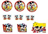 CDC – Kit N ° 19 Día y Party topolino- (40 platos, 40 vasos, 40 servilletas, 1 mantel)