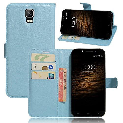 Tasche für UMI Rome / Rome X Hülle, Ycloud PU Ledertasche Flip Cover Wallet Case Handyhülle mit Stand Function Credit Card Slots Bookstyle Purse Design blau