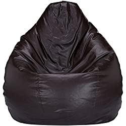 Solimo XXXL Bean Bag Cover Without Beans (Brown)