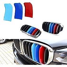 7 Gitter Tuqiang 3 Farben 3D MotorSport Frontgrill Zierleisten Grill Cover Dekoration Aufkleber f/ür X5 G05 2019