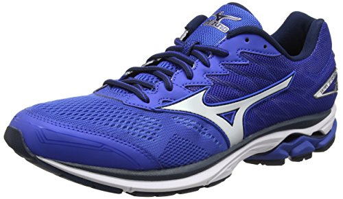 Mizuno Wave Rider 20, Chaussures de Running Entrainement Homme, Bleu (Nautical Blue/White/Dress Blues), 44 EU