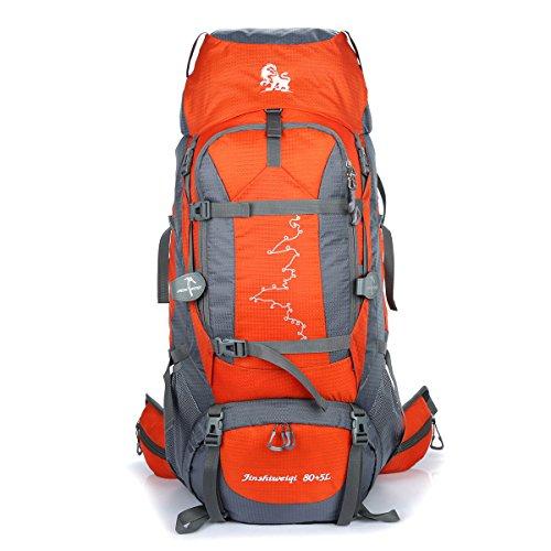Neues Im Freien Bergsteigen Tasche Lässige Kleidung Camping Wandern Tasche Groß Kapazität Daypack Orange