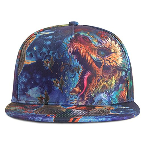 Imagen de zarlle  beisbol hombre mujer sombrero de snapback plano al aire libre flor hip hop  de béisbols viseras impresión a color patrón sombrero   de béisbol talla única, b  alternativa