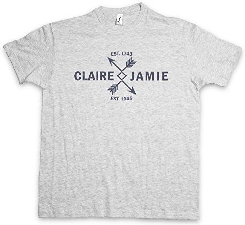 Claire & Jamie T-Shirt – Taglie S – 5XL Ash