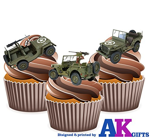 novelty-army-jeep-cake-decorations-edible-cup-cake-toppers-pack-of-12