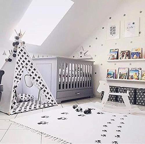 WOSBE krabbelmatte Baby Hund Fußabdrücke Kinder Baby Kinder Spielen Spiel Boden Teppich Matte...