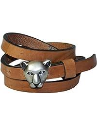 c69f8146e13e FRONHOFER Fine ceinture pour femme, boucle à tête de panthère jaguar à  strass pour femme