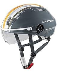 Cratoni Evolution Light–Casco de bicicleta (Talla S/M, 53–57cm brillo Antracita Naranja