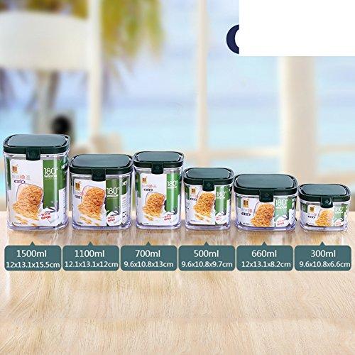 Schnalle] Plastik versiegelten dosen Nicht-glas Küche Körner [speicher jar] Milch Snack Aufbewahrungsbox Flasche mit deckel Spice jar-U -