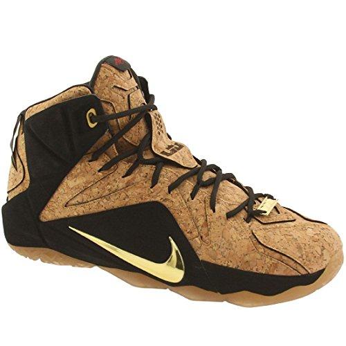 Nike Lebron Xii Ext In Sughero da uomo hi top trainers 768829Scarpe da ginnastica Dorado / Black  (Natural/Natural-Blk-Mtllc Gld)