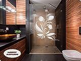 Aufkleber Folie Tattoo Glasdekorfolie Bad Dusche Duschwand Badezimmer Glasdekor GD41 Ornament Blume