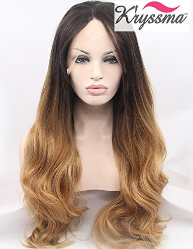 kryssma-natural-looking-synthetic-hair-ombre-blonde-wavy-wigs-for-black-women-dark-roots-long-lace-f