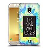 Head Case Designs Idk Man Who Cares Tye Dye Muster Soft Gel Hülle für Samsung Galaxy J3 (2017)