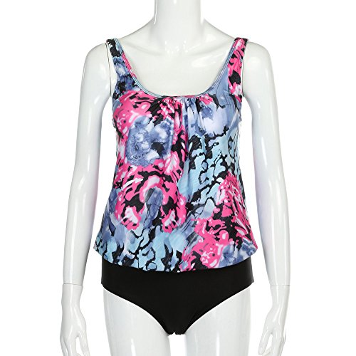 Frauen Plus Size Gedruckt Tankini Bikini Bademode Badeanzug Badeanzug ()