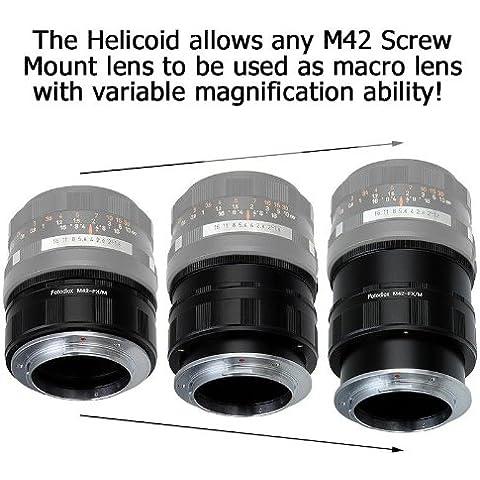 Fotodiox–Adattatore di montaggio per M42con regolazione fuoco macro per Fujifilm