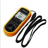 YMXLJJ Digital Anemometer LCD Wind Speed/Wind Temperatur Geeignet für zu Drohnen, Segeln, Surfen, Fischerei, Gelb