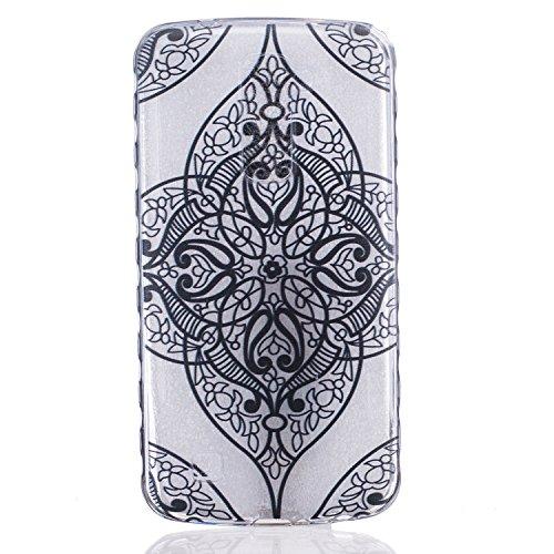 Cozy Hut Crystal Case Hülle für LG K10 aus TPU Silikon mit Liebe Design - Schutzhülle Cover klar in schwarz Weiß Transparent - Black Love