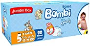 Sanita Bambi, Size 5, XL, 13-25 kg, Jumbo Box, 80 Diapers