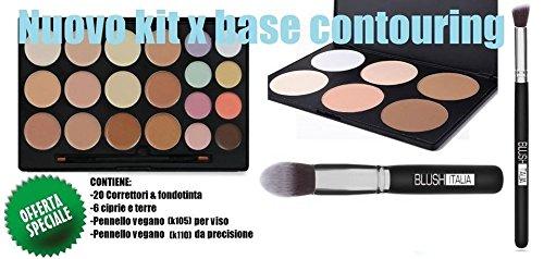 Blush Italie Make visage Base Contouring et teint correcteurs Ciprie et terre Pinceau Visage + Pinceau Yeux