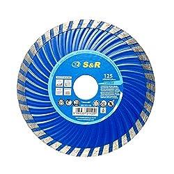 S&R Diamanttrennscheibe 125x2,2(7,0) x22,2 mm Turbo,Beton armierter Beton,Granit,Naturstein,Ziegel, Trockenschnitt