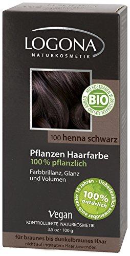 Logona Pflanzen-Haarfarbe Henna-Schwarz 100g