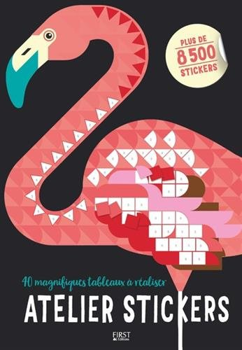 Atelier stickers : 40 magnifiques tableaux à réaliser, plus de 8500 stickers