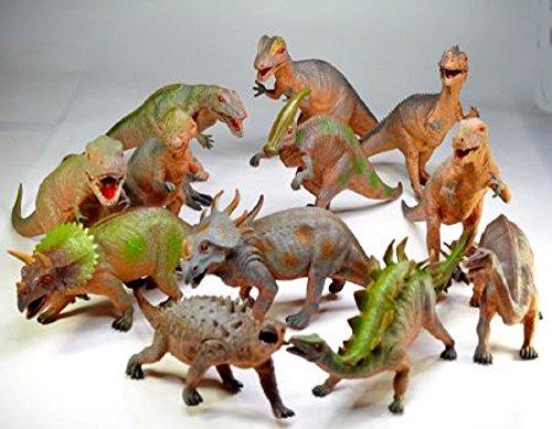 3 Verschiedene Dinosaurier 42-57 cm massiv Dino groß (3 Stück Modell per...
