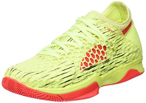 Puma Unisex-Erwachsene Evospeed Netfit Euro 3 Multisport Indoor Schuhe, Gelb (Fizzy Yellow-Red Blast Black), 45 EU