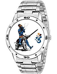 ZAVIO Mahadev Bhole Baba Designer Graphics Dial Analog Watch For Men And Boys