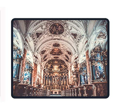 Aisle Altar Arch 8.66 X 7.09 Inch Computer Mouse Pad with Neoprene Backing and Jersey Surface (Mickey Arch)