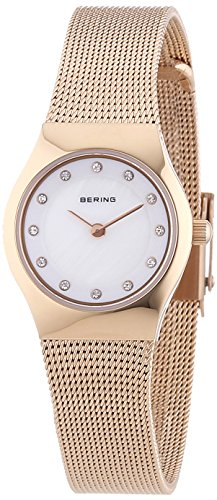 BERING Damen-Armbanduhr Analog Quarz Edelstahl 11923-366
